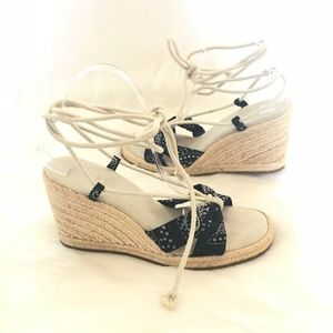 a2a269ab25e Lauren Ralph Lauren Shoes | New Ralph Lauren Navy Espadrille Wedges ...